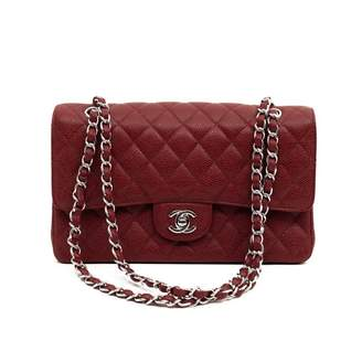 Chanel Timeless/Classique Burgundy Leather Handbags