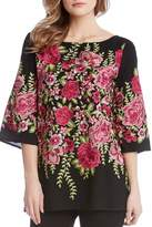 Karen Kane Embroidered Slit Tunic