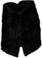 Yves Salomon Navy Rabbit Jacket for Women