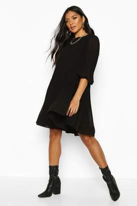 boohoo Pleated Swing Dress