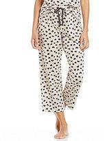 Sleep Sense Leopard-Print Cropped Sleep Pants
