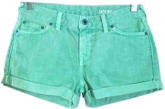 Jack Wills Green Denim - Jeans Shorts for Women