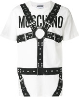 Moschino logo and harness print T-shirt