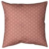 """Jordao Classic Zig Zag Floor Pillow Brayden Studio Size: 28"""" x 28"""", Color: Red/White"""