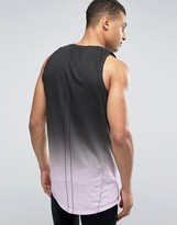 Religion Longline Tank with Color Fade