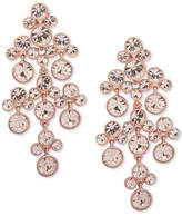 Givenchy Clear & Colored Stone Chandelier Earrings