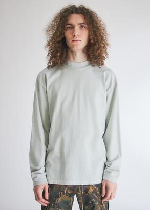 John Elliott Men's 900 Long Sleeve Mock T-Shirt in Glacier, Size Extra Large   100% Cotton