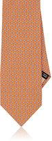Salvatore Ferragamo Men's Double Gancio-Print Silk Necktie