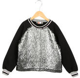 MSGM Girls' Sequined Crew Neck Sweatshirt w/ Tags