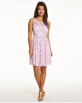 Le Château Floral Textured Knit Illusion Dress