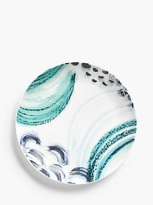 John Lewis & Partners Imari Patterned Bone China Deep Pasta Plate, 23cm, Blue/White
