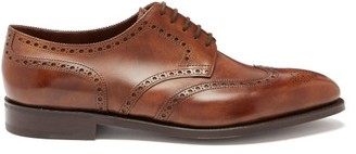 John Lobb Hayle Leather Brogues - Mens - Dark Brown