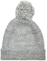 Burton Burton Grey Textured Knit Bobble Beanie Hat