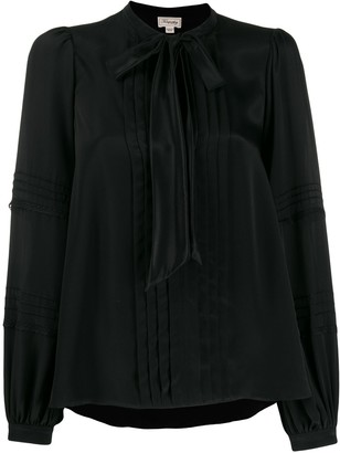 Temperley London Pleated Pussy-Bow Blouse