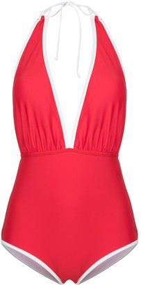 Perfect Moment deep V-neck swim suit