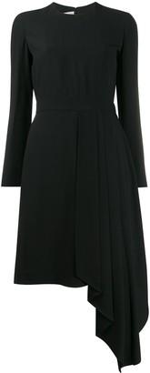 Gucci draped detail asymmetric dress