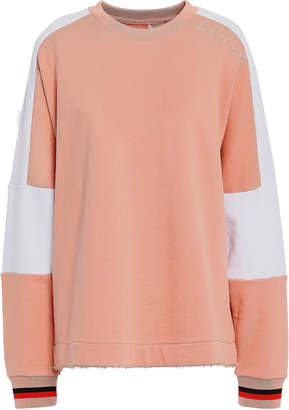 P.E Nation Frayed Color-block French Cotton-terry Sweatshirt