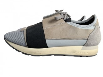 Balenciaga Race Grey Leather Trainers