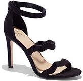 New York & Co. Scallop-Strap Faux-Suede Sandal