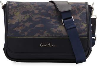Robert Graham Men's Cormac Camo-Print Messenger Bag