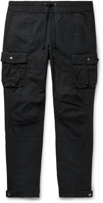 John Elliott Black Panorama Slim-Fit Cotton-Ripstop Cargo Trousers - Men