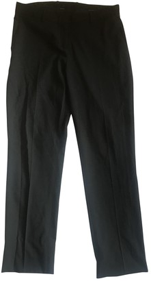Theory Black Cloth Trousers for Women