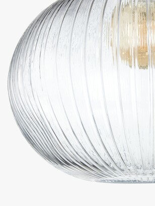 John Lewis & Partners Raindrop Easy-to-Fit Glass Ceiling Shade, Clear