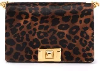 Furla Mimi S Shoulder Bag In Leopard Print Pony Leather