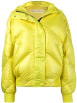 Ienki Ienki Yellow Dunlop hooded puffer jacket