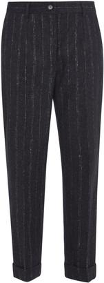 Dolce & Gabbana Cropped Stripe Trousers