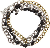Talon Chain and Cord Toggle Bracelet