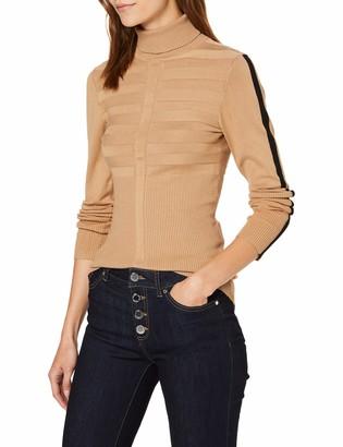 Morgan Women's Pull col roule Bande Couleur Manche MENTOI Pullover Sweater