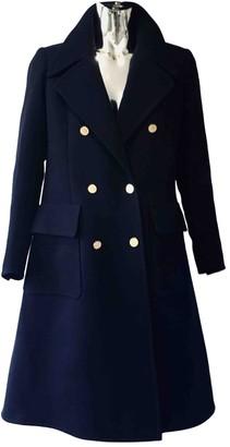 Saint Laurent Navy Wool Coat for Women Vintage