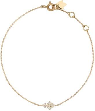 Feidt Paris 18kt yellow gold mini Huguenots diamond cross charm bracelet