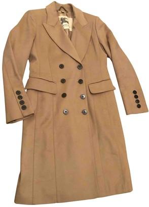 Burberry Camel Wool Coat for Women