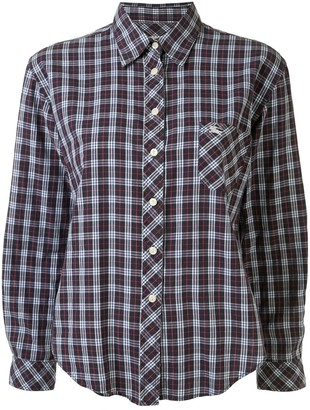 Burberry Pre Owned Checked Slim-Fit Shirt