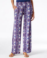 American Rag Printed Wide-Leg Soft Pants, Only at Macy's