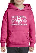 Artix This Girl Loves Soccer Unisex Hoodie For Girls and Boys Youth Sweatshirt