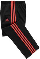 adidas Black & Shock Red Track Pants - Girls
