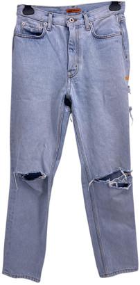 Heron Preston Blue Cotton Jeans