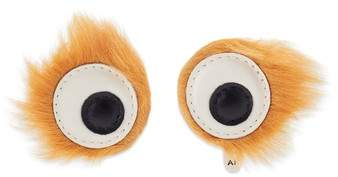Anya Hindmarch Build a Bag Genuine Shearling Furry Eye Stickers