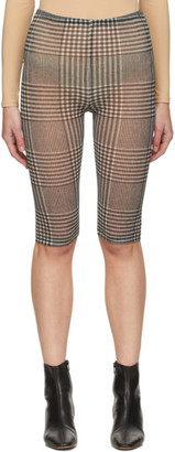 MM6 MAISON MARGIELA Black and White Mesh Check Shorts