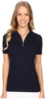 Lacoste Short Sleeve Stretch Jersey Zip Polo