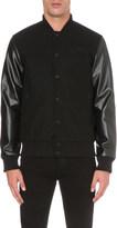Boy London Contrast wool-blend varsity jacket