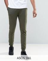 Asos Tall Skinny Joggers In Khaki