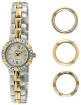 Pierre Jacquard BZ5 Women's Two-Tone Bezel Interchangable Gift Set Watch