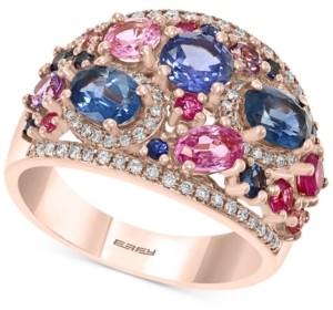 Effy Multi-Gemstone (3-1/5 ct. t.w.) & Diamond (1/4 ct. t.w.) in 14k Rose Gold