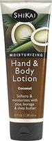 Shikai Natural Moisturizing Hand & Body Lotion, Softens & Moisturizes with Aloe, Borage and Shea Butter (Coconut, 8 Ounces)