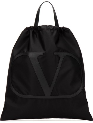 Valentino Logo Top Handle Backpack