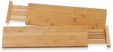 Bed Bath & Beyond Lipper Bamboo Kitchen Drawer Dividers - Set of 2